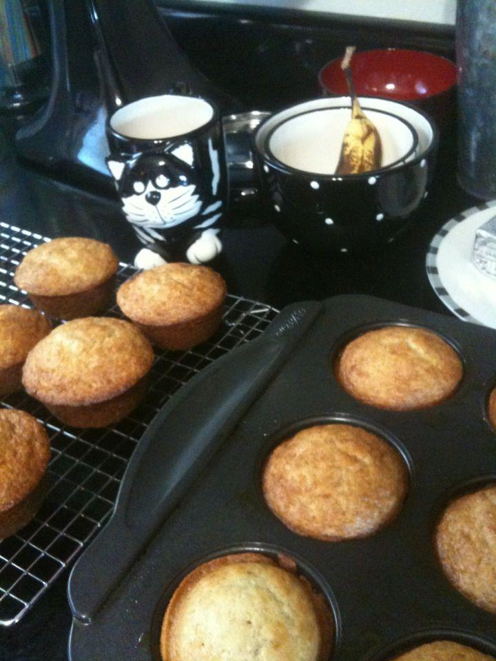 Fresh baked banana muffins!