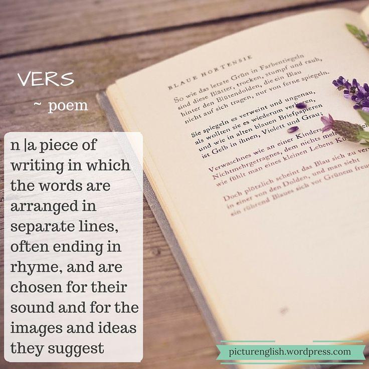 Poem / Vers