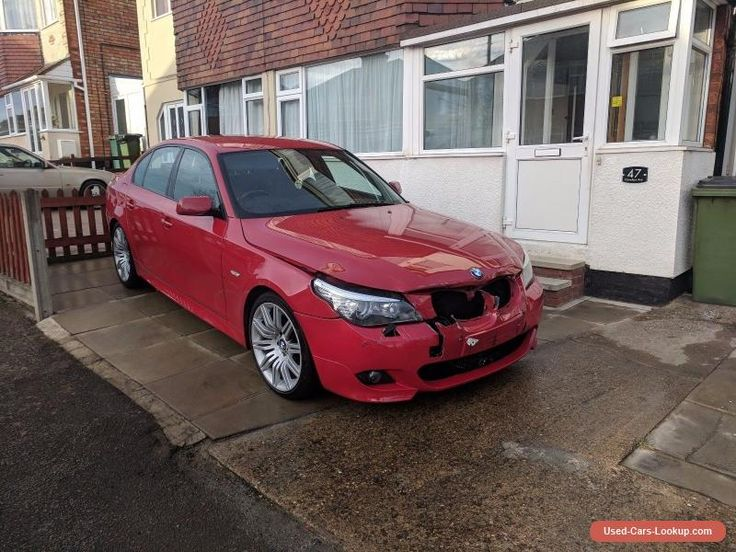 BMW 525d M Sport E60 2008 Rare Imola Red Big Spec Damaged Salvage Repairable  #bmw #525 #forsale #unitedkingdom