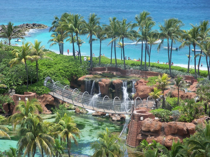 View towards the beach from Coral Towers, Atlantis, Paradise Island June 2011