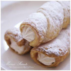 「マロンクリームのクリームホーン」*Manis* | お菓子・パンのレシピや作り方【corecle*コレクル】