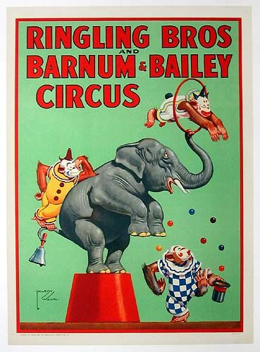 Ringling Bros Barnum & Baily Circus Poster