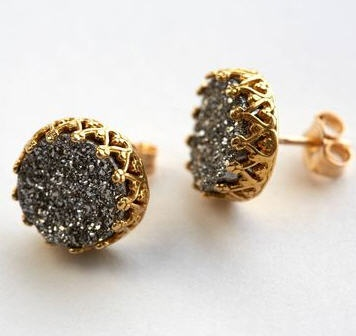 Awesome mineral and 14k jewelry at Fab.com.   Modern yet VERY classic!