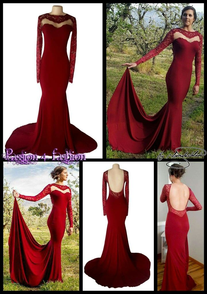 Matric Farewell Prom Make Up: Maroon Soft Mermaid Open Back Matric Dance Dress With An