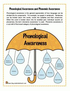 Blog post explaining the differences between phonological awareness, phonemic awareness and phonics. Free printables.