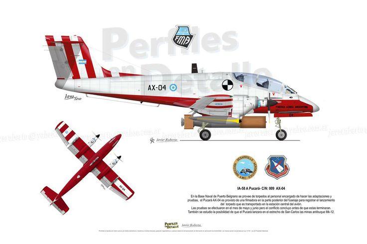 IA-58 A Pucará- C/N: 009 – AX-04 Avión perteneciente al C.E.V. Centro de Ensayos en Vuelo. Mayo de 1982
