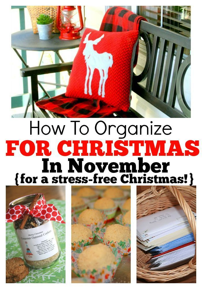 How To Organize For Christmas in November For A Stress Free Christmas! Via Angie