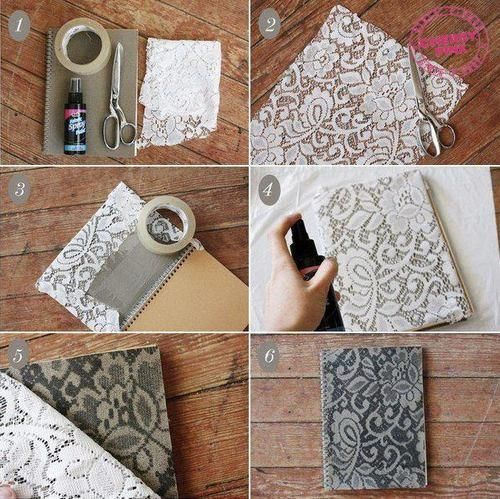 Decora carpetas o cuadernos estilo vintage.