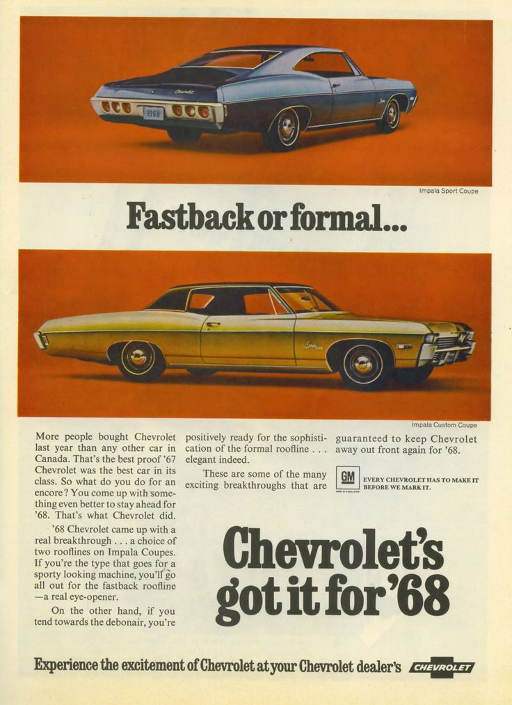 what new car did chevy release in 1968454 best images about Chevrolet Car Ads on Pinterest  Chevy