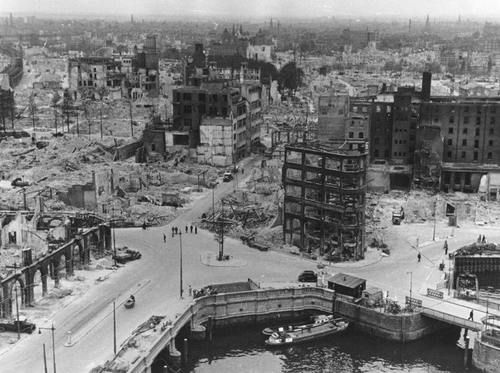 Bomb damage to the Old Port of Rotterdam, May 1940