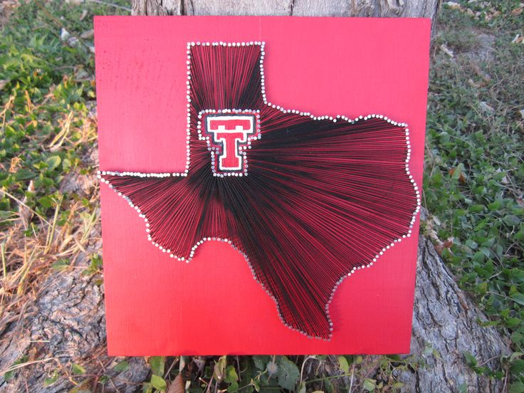 Texas Tech Red Raiders String Art by theofficalcraftaddix on Etsy, $49.99