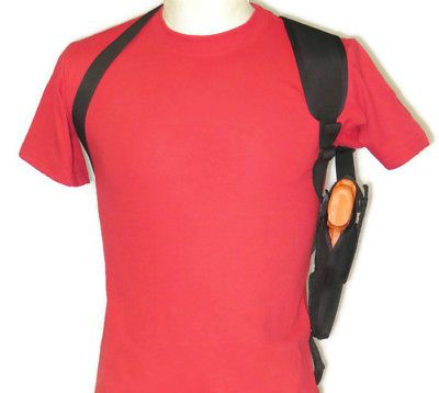 Gun Shoulder Holster for Glock 42 With Underbarrel Laser VERTICAL CARRY
