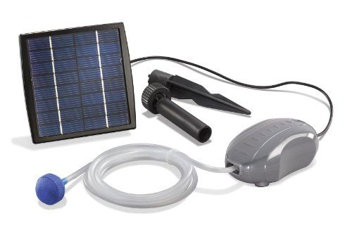 Esotec 101870 Aérateur solaire pour étang « Solar Air-S »: Le panneau solaire est équipé d'un piquet de sol multifonction permettant de le…