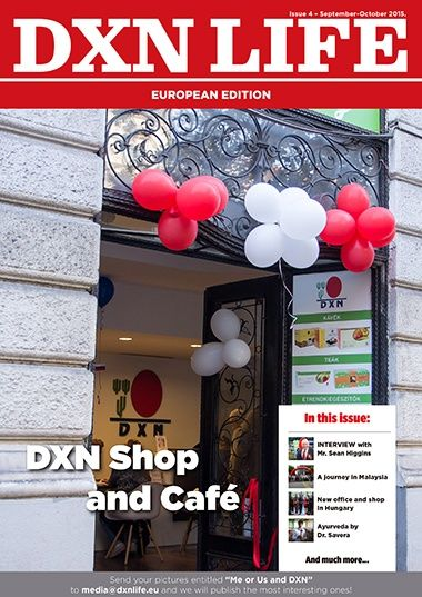 New edition DXN LIFE no. 4 is now online. You can download it at the following link. We wish you a nice reading. http://dxnlife.eu/