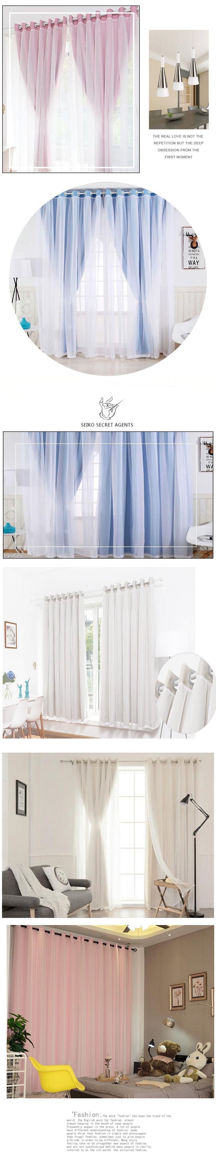 Корейский кисточки фонари глава Топ занавеса + вуаль Sheer плотные шторы для гостиной окно изготовление под заказ купить на AliExpress