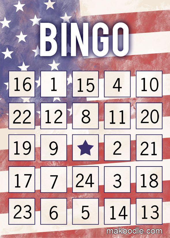150 best bingo cards images on pinterest birthdays activities patriotic bingo cards free fourth of july printable activity solutioingenieria Images
