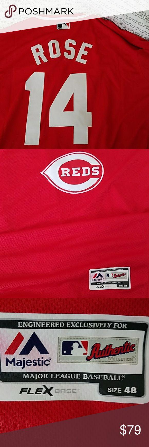 Baseball jersey Pete Rose Majestic Jersey Majestic Shirts