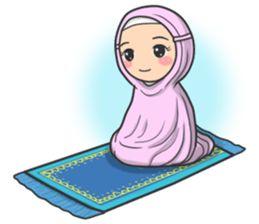 Flower Hijab 2 - LINE Stiker Kreator