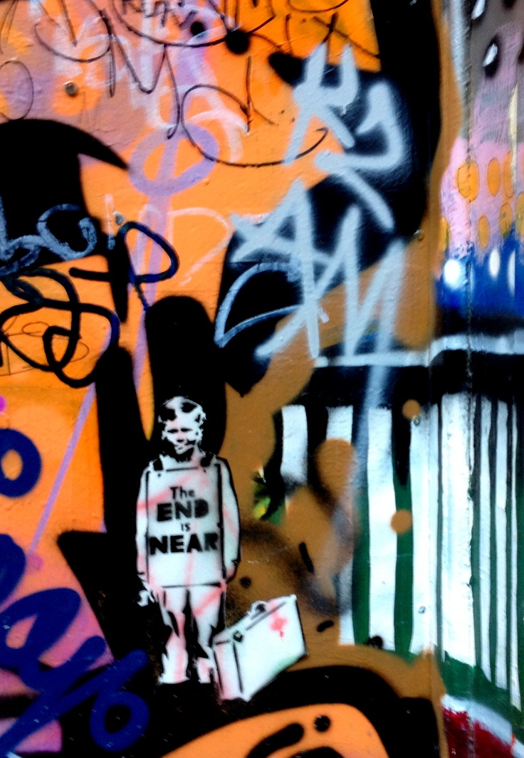 Street art in the Melbourne Lanes.