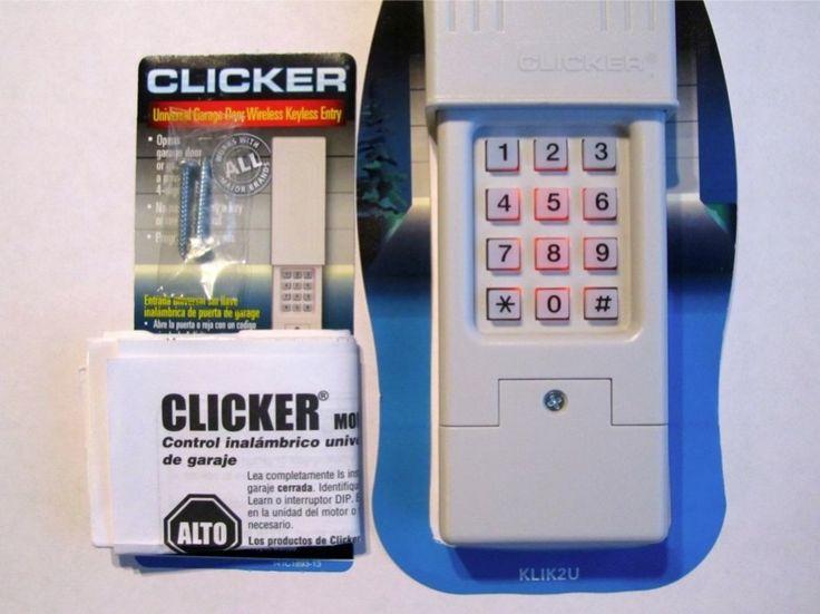 Clicker Garage Door Opener Keypad Universal Remote KLIK2U 387LM 53684 53754 3050 | eBay