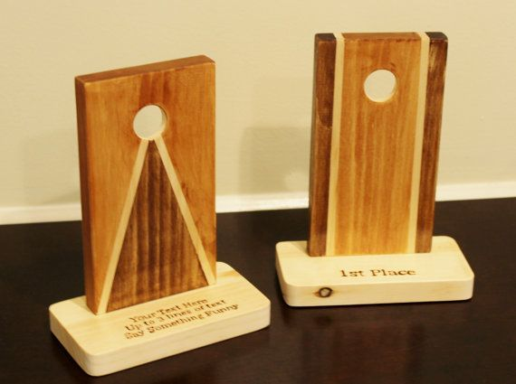 Neat idea for corn hole tournament trophy
