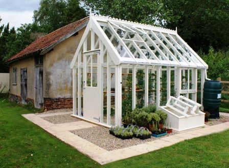 Victorian Style Greenhouse In White Victorian