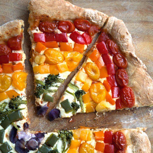 #JeudiCalories : la pizza arc-en-ciel - Marie Claire