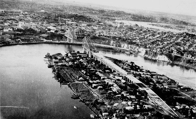 Brisbane River and Story Bridge, 1939
