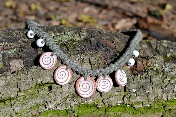 jewelry piece ceramic jewelry boho style eco friendly jewelry for women gift for her clay jewelry holiday gift unique handmade minimalist by TopyrkinaJewelry on Etsy