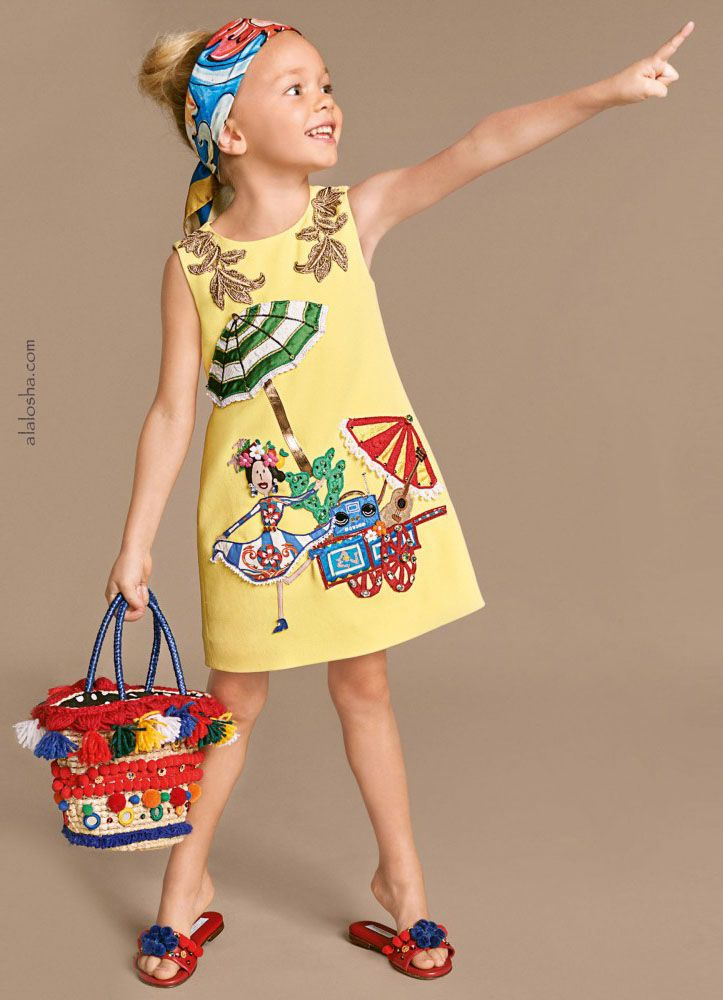 ALALOSHA: VOGUE ENFANTS: Must Have of the Day: Postcards and prints inspired by Italy for a co-ordinated mommy and me look Dolce&Gabbana