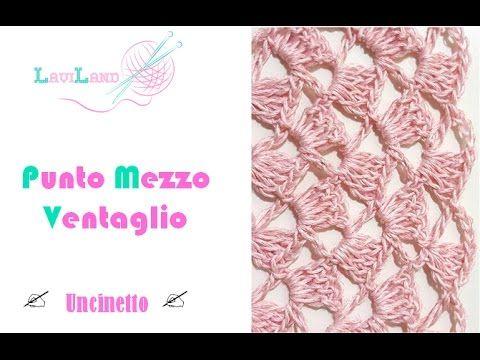 punto mezzo ventaglio uncinetto crochet stitch youtube - Hakelmutzen Muster