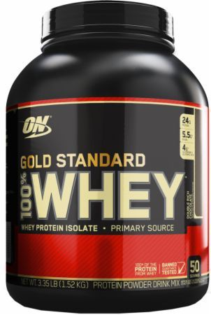Optimum Nutrition Gold Standard 100% Whey Double Rich Chocolate 3.5 Lbs. - 50 Servings OPT2780019 Double Rich Chocolate - 24g of Whey Protein with Amino Acids for Muscle Recovery and Growth*