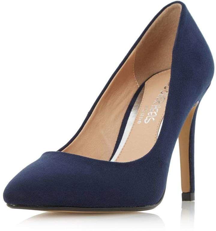 Womens Blue Alise Pump Heart Heels