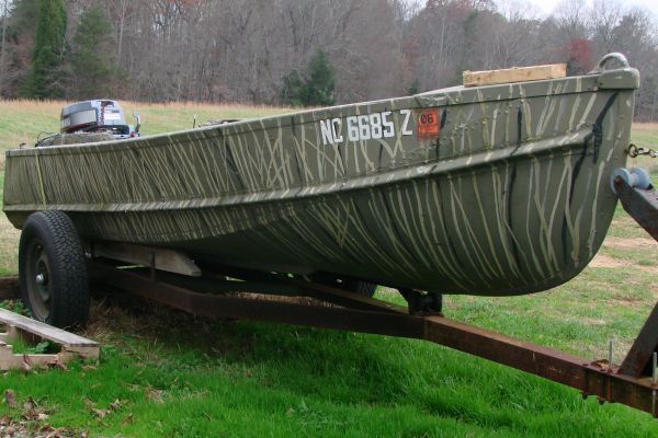 pictures of painted v hull dinghy boats | Expired - JON BOAT - CAMO - $3,000.00 | trailer ...