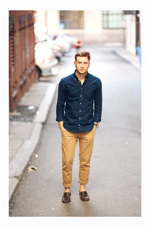 how to wear chinos rolled up