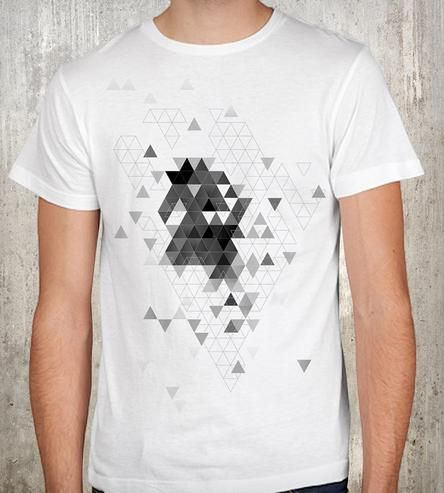 mens triangle explosion t shirt