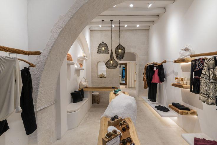 Sign Boutique, Mykonos, rustic interior.