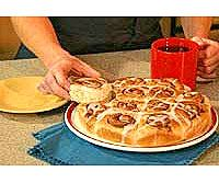 Cinnamon Rolls Recipe -  this recipe is great, but I use cream cheese frosting instead of vanilla glaze, will pon that too