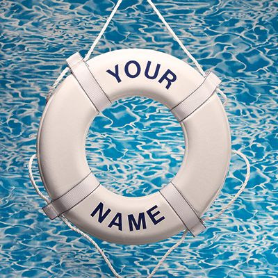 Personalized Custom Life Ring Buoy Imprint Your Name