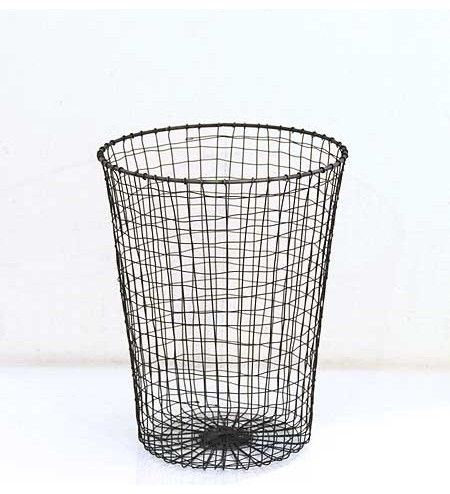 Wire Waste Paper Bin Eclectic Waste Baskets Wastepaper