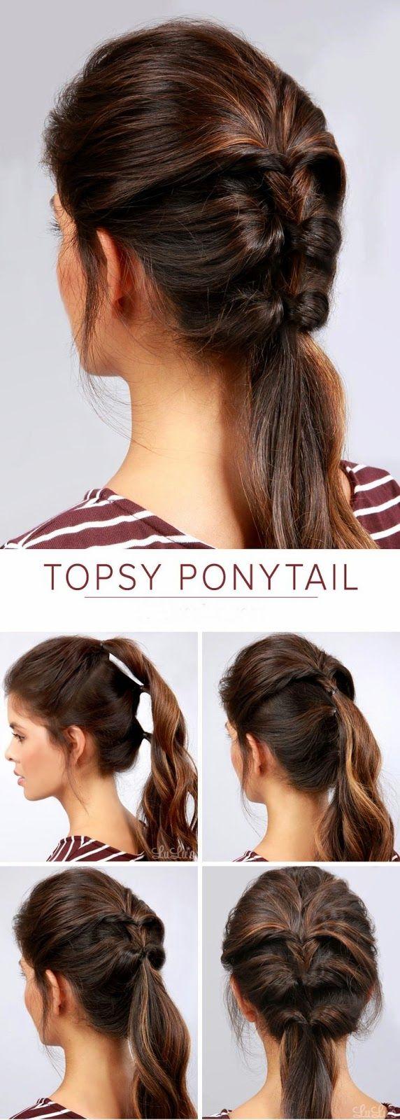 Amazing 1000 Ideas About Easy Ponytail Hairstyles On Pinterest Ponytail Short Hairstyles Gunalazisus