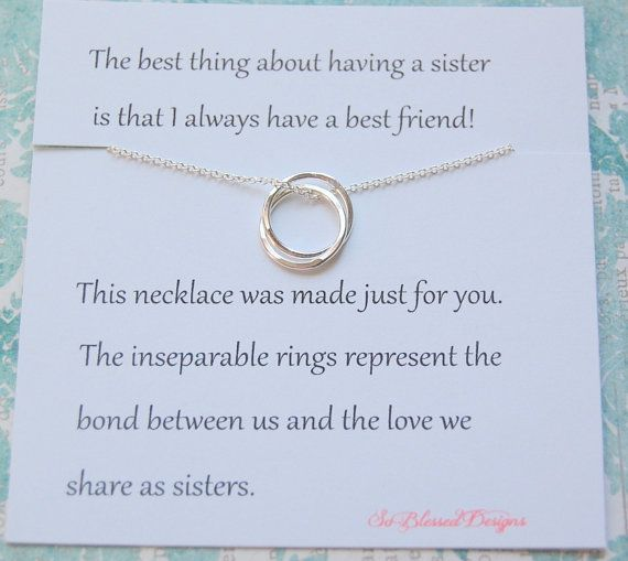 Hey, I found this really awesome Etsy listing at https://www.etsy.com/listing/240633593/sister-necklace-christmas-gift-maid-of