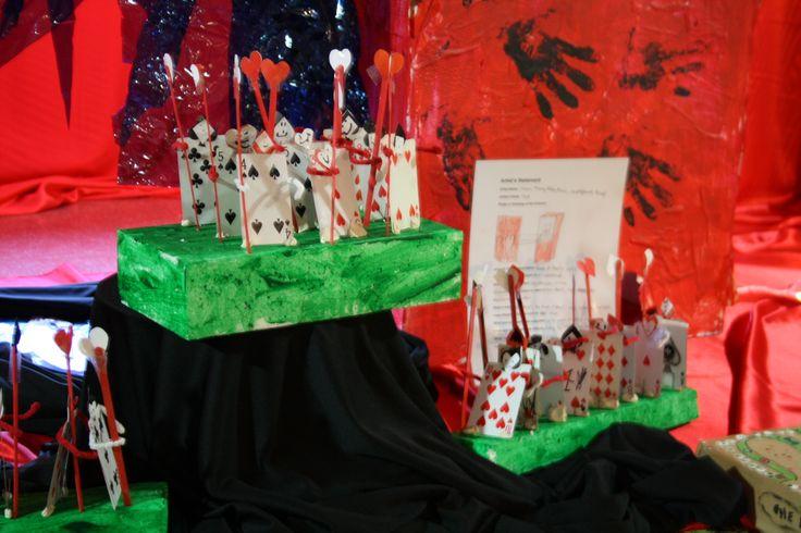 Primary School Art Show. Card Soldiers. Alice in Wonderland