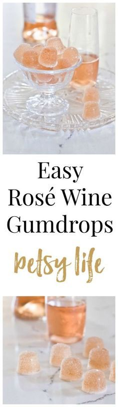 Only 3 ingredients! You're going to want to make these Easy Rosé Wine Gumdrops ASAP! The perfect DIY recipe to give for Christmas.