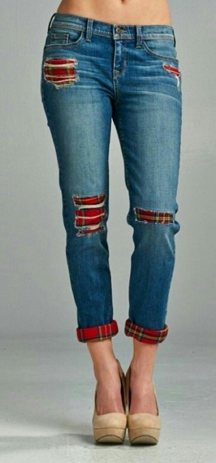 Match patches with new cuffs for adorable jean upcycling!