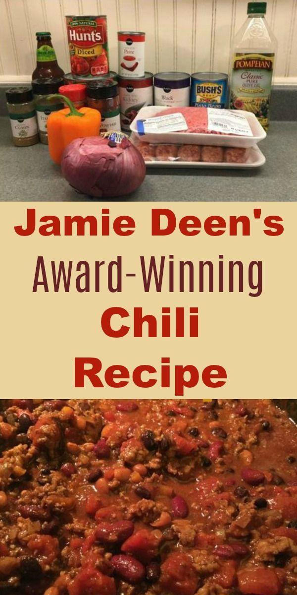 Jamie Deen S Award Winning Chili Recipe With Beer Recipe Best Chili Recipe Beef Chili Recipe Winning Chili Recipes