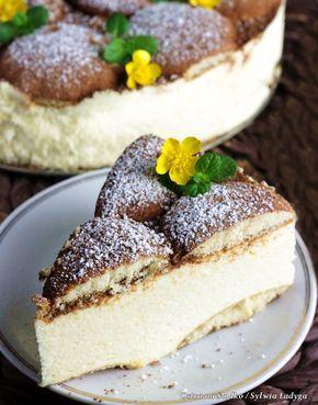 SEROWE CAPPUCCINO - ciasto bez pieczenia [ser, żelatyna, masło, biszkopty, kawa, mleko w proszku, kakao] No-bake cake