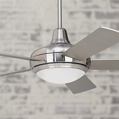 "52"" Casa Compass Brushed Nickel Ceiling Fan - #M2565   LampsPlus.com Less expensive option"