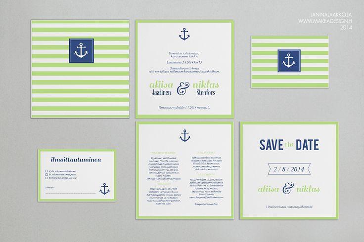 makeadesign kutsujen suunnittelu hääkutsut save the date kiitoskortit