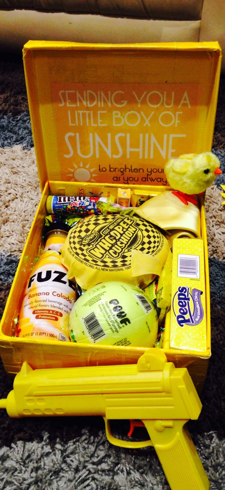 Little box of sunshine to brighten up their day!